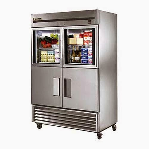True TS-49-2-G-2 55  Half-Door Reach-In Refrigerator