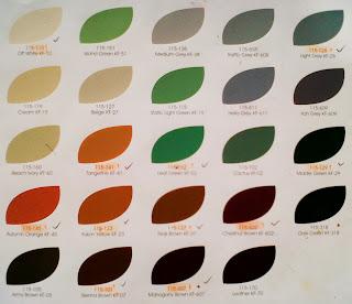 Berikut adalah pilihan warna Cat Ftalit :