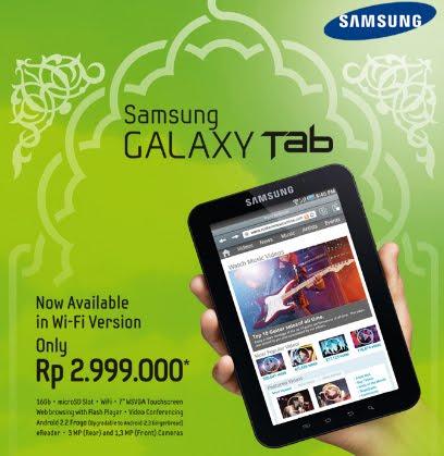 Samsung Galaxy Tab Dengan Wifi