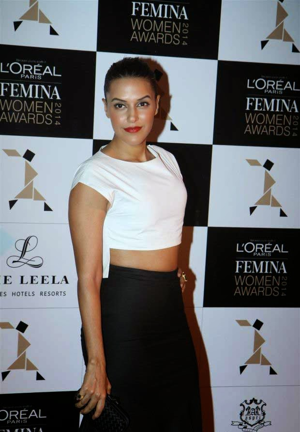 Neha Dhupia at L'Oreal Paris Femina Women Awards 2014