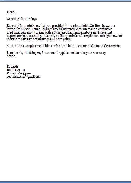 How to attach cover letter