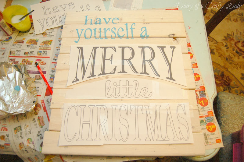 Christmas Painted Pallet Signs