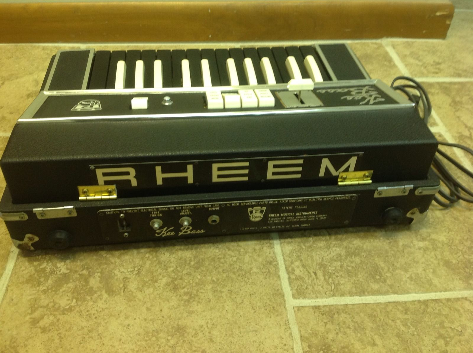 Matrixsynth vintage black rheem kee bass monophonic for Classic house organ bass
