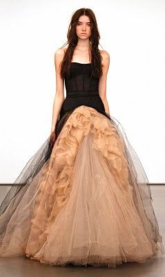 Vera Wang Fall 2012 Bridal Brown