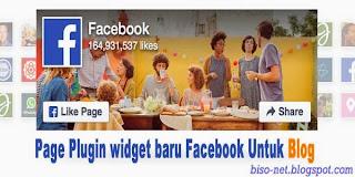 Cara memasang Facebook Page Plugin di Blog