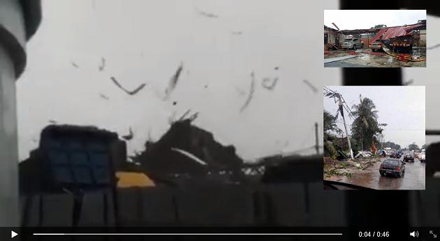 Video dan 10 Gambar Puting Beliung di Pandamaran Klang