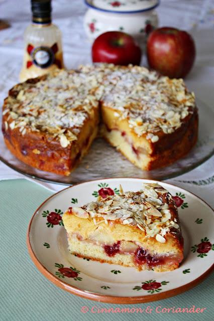 Apfelkuchen mit Eierlikör Schmand Guss