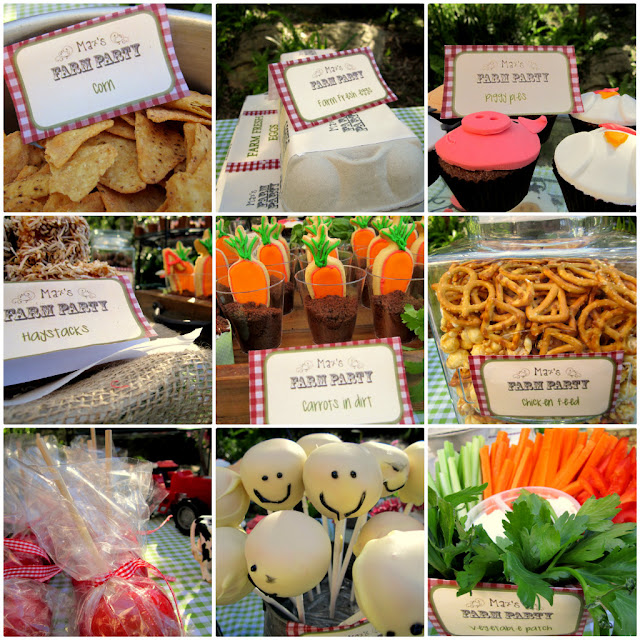 Farm party food ideas