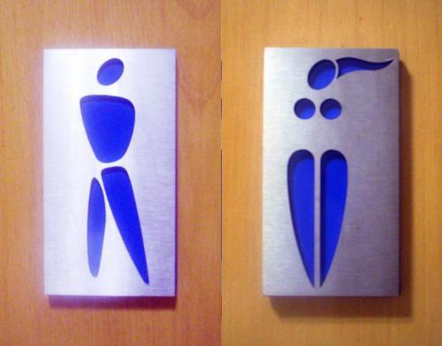 Algunas imagenes para diferenciar los baños