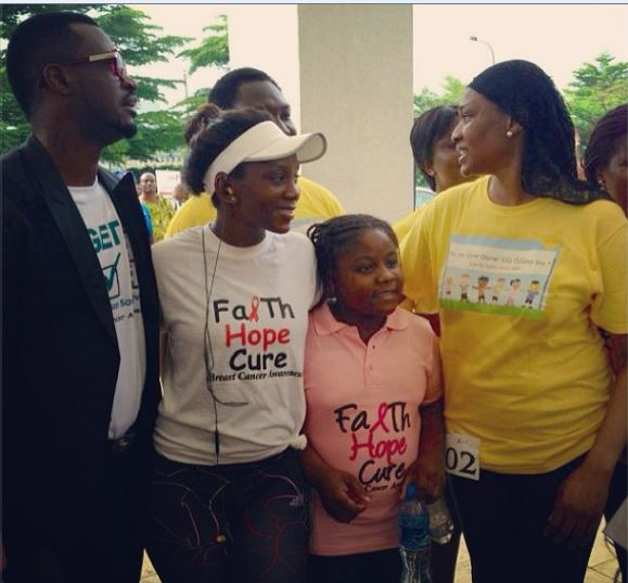 genevieve nnaji breast cancer awareness run