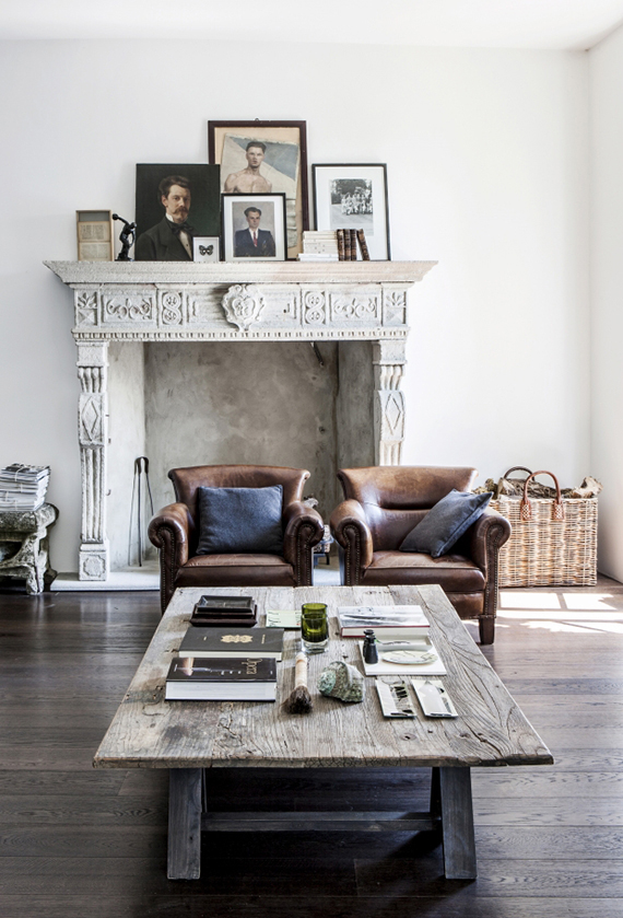 Atmospheric home with industrial rustic charm | Design by Pietro Castagna. Photo by Stefania Giorgi via Mad & Bolig