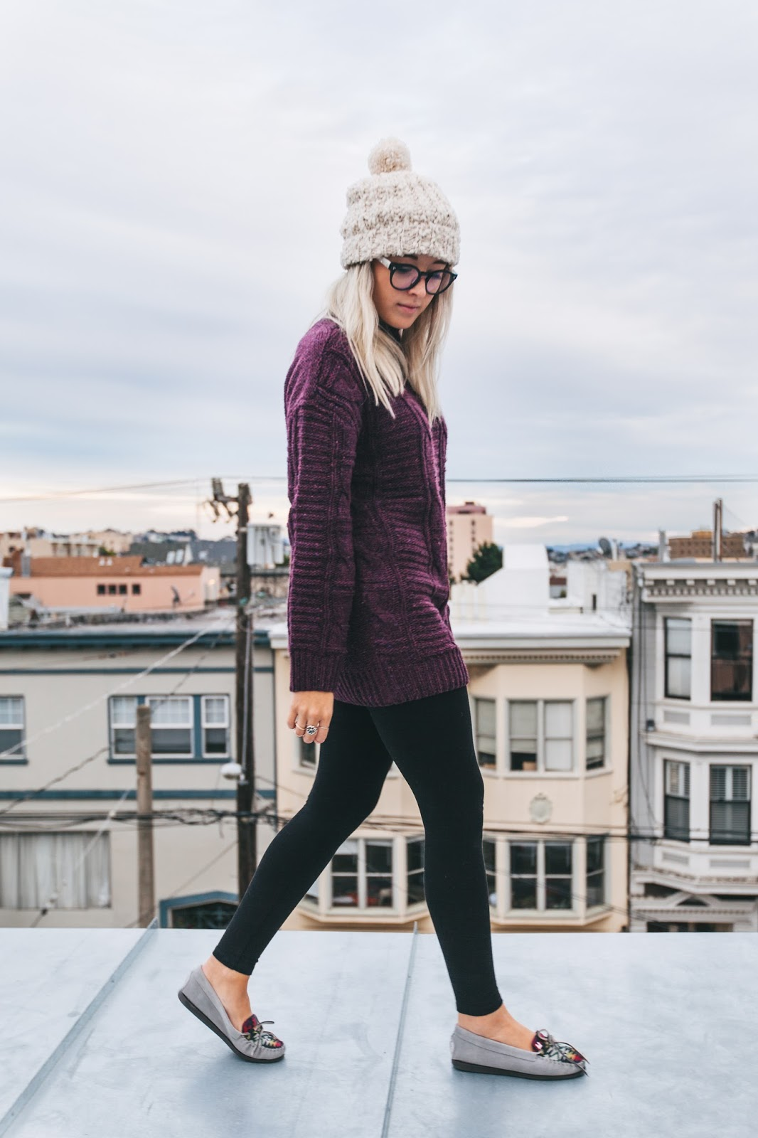 cozy outfits, reading nook, fashion blogger, sf style, san francisco fashion blogger, chunky sweater, garage clothing, le bunny bleu, crimson, cute moccasins, bryn newman, stone fox style, stone cold fox, stone fox