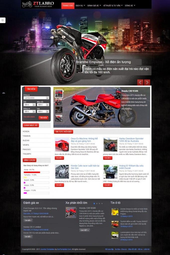 dịch vụ thiết kế website bán phụ tùng