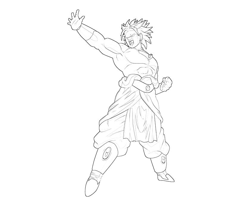 broly coloring pages - photo#11