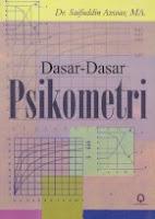 toko buku rahma: buku DASAR-DASAR PSIKOMETRI, pengarang syaifuddin azwar, penerbit pustaka pelajar