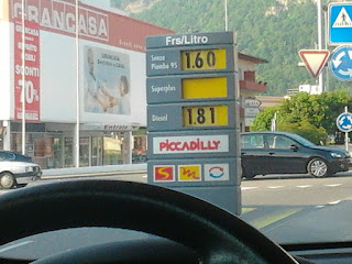 Prezzi benzina a diesel in Svizzera (Mendrisio)