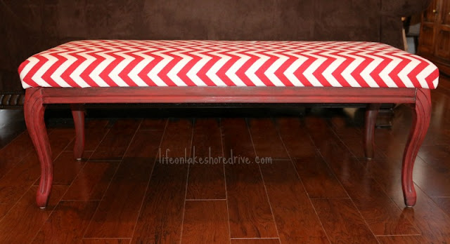 Chevron and Annie Sloan Emperor's Silk Bench Makeover