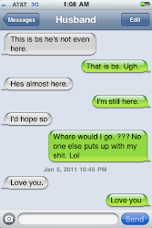 Funny Convo between hubby &amp; I.