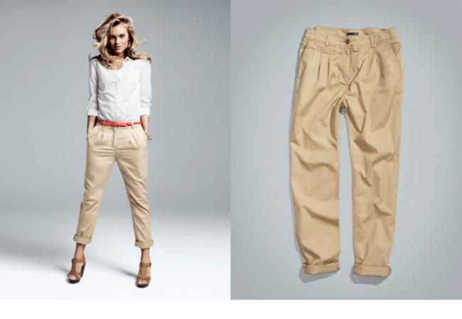 Thaisa daher le pantalon chino chino pants - Que porter avec un pantalon beige femme ...