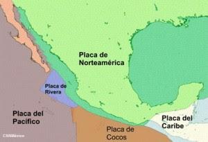 PLACAS TECTONICAS EN MEXICO