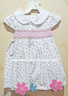 HT White Smocking Dress