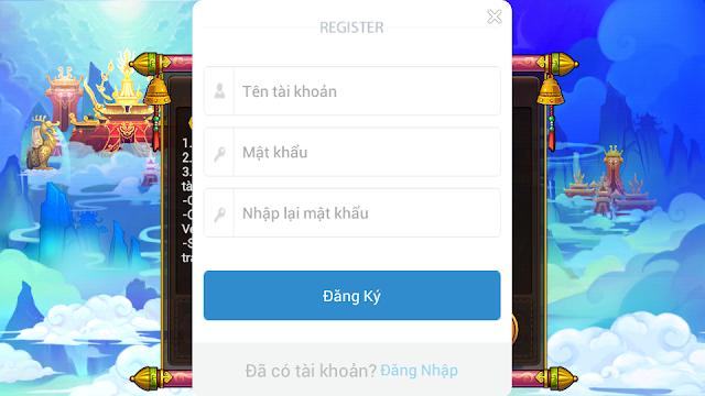 Hướng dẫn đăng ký tài khoản game Teen Du Ký