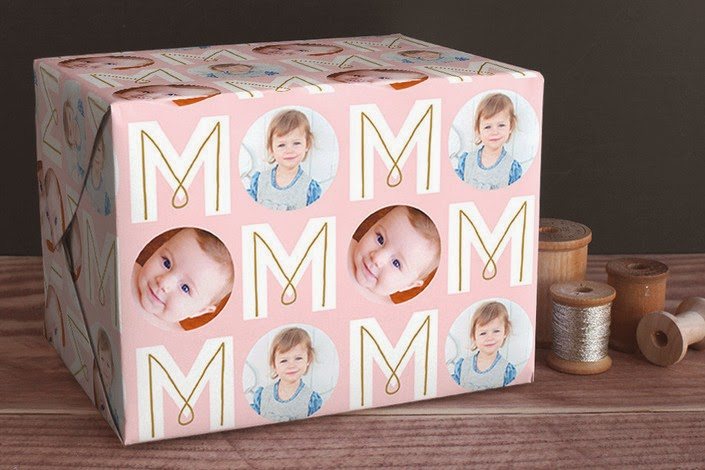 Minted's personalized wrapping paper