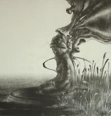 """""""Im Hinterzimmer"""" - Schablithografie (2010)"""