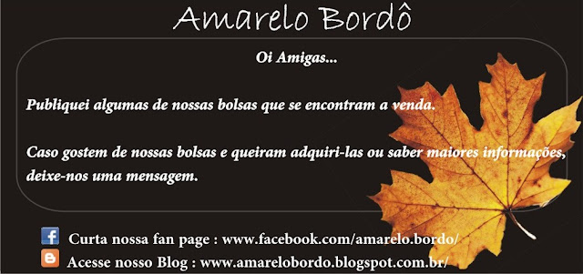 Bolsas a venda-Amarelo Bordô-Blog-Fan Page