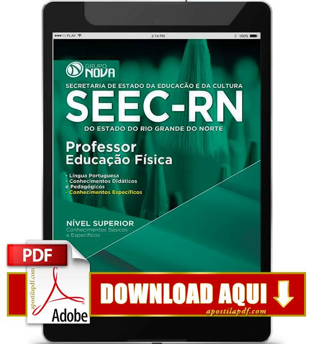 Apostila SEEC RN 2015 Professor Educação Física PDF Download