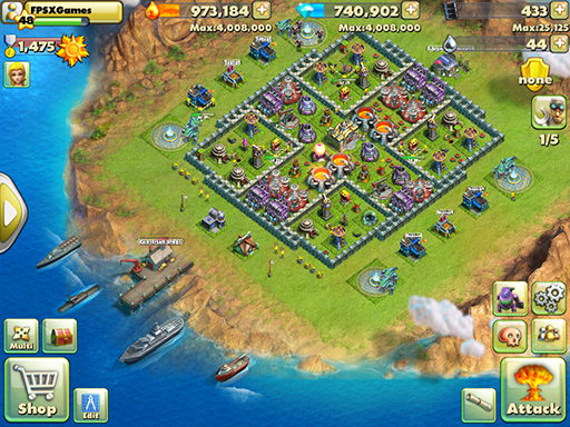 Battle Beach is a IOS game like Boom Beach