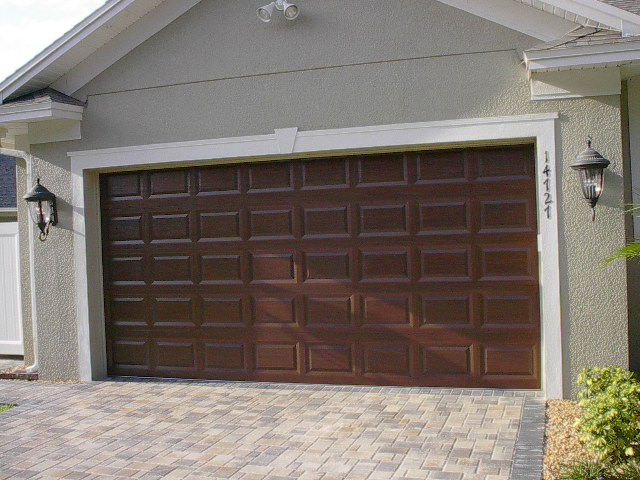 One week door project everything i create paint garage for How to paint a garage door to look like wood