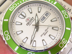 ORIENT DIVER MAKO2 WHITE DIAL GREEN BEZEL - AUTOMATIC