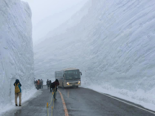 Amazing Pictures 20 Meters of snow Wall in Hokkaido in Japan @FunkyPhotos.org