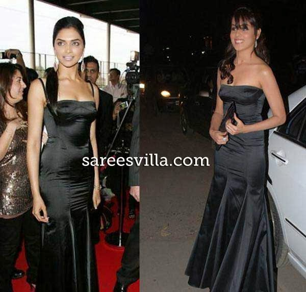 Deepika Padukone and Genelia d'souza in same dress