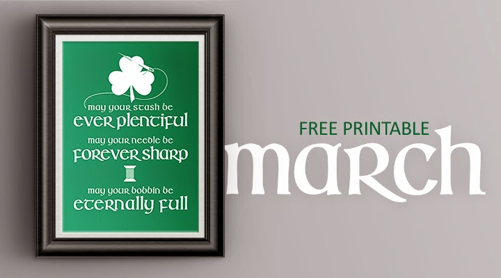 Irish Sewing Blessing [completely made up] -- free printable in multiple sizes and colors | The Inspired Wren