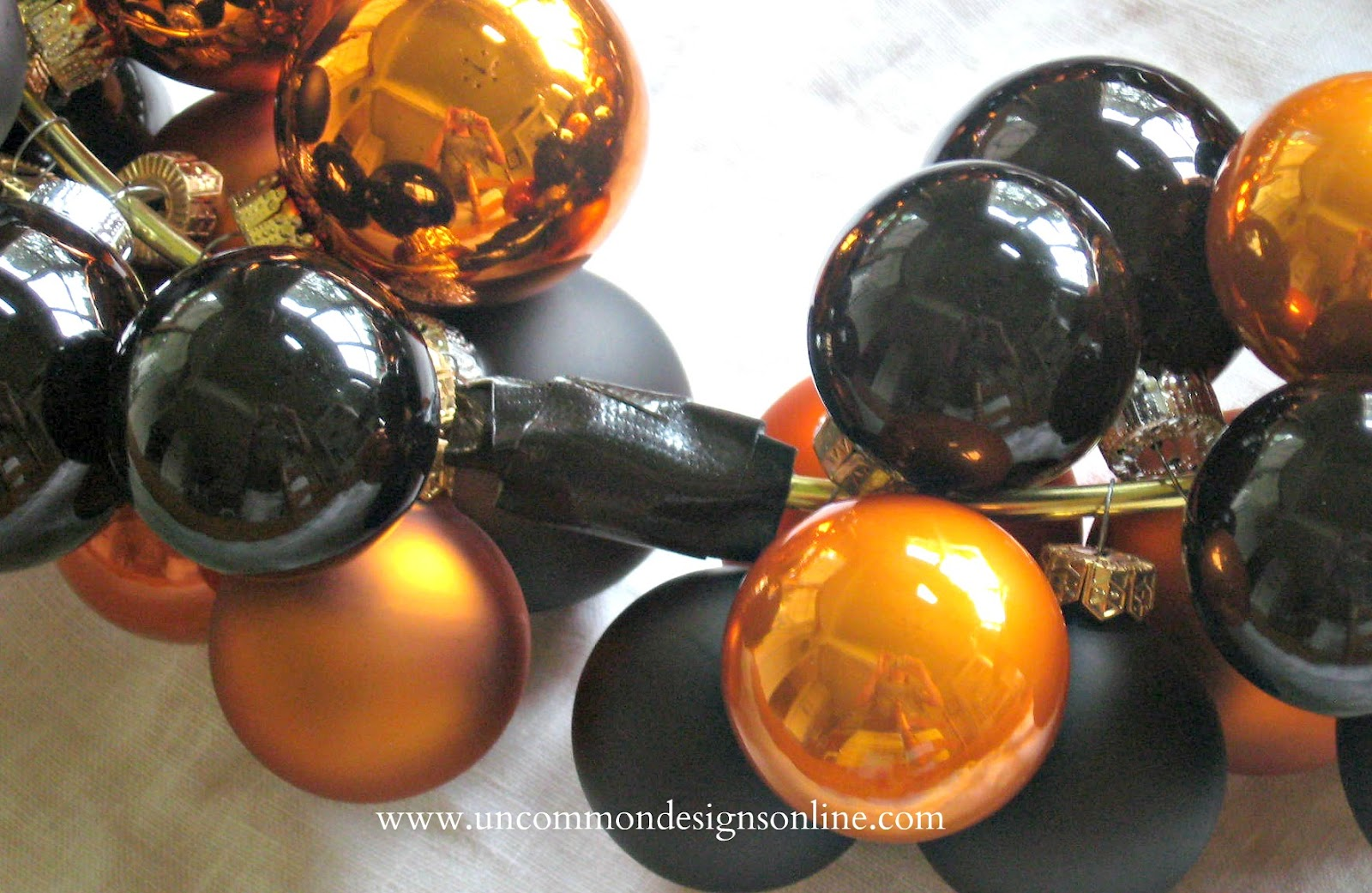 Halloween glass ornaments - When I Was Almost All The Way Around I Left Myself Just Enough Space To Tape The Wire Closed I Used Gorilla Tape It Is A Thinner Version Of The