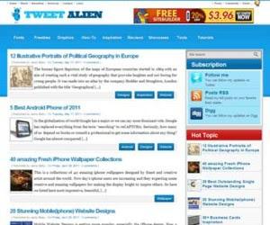 Tweet Alien Blogger Template
