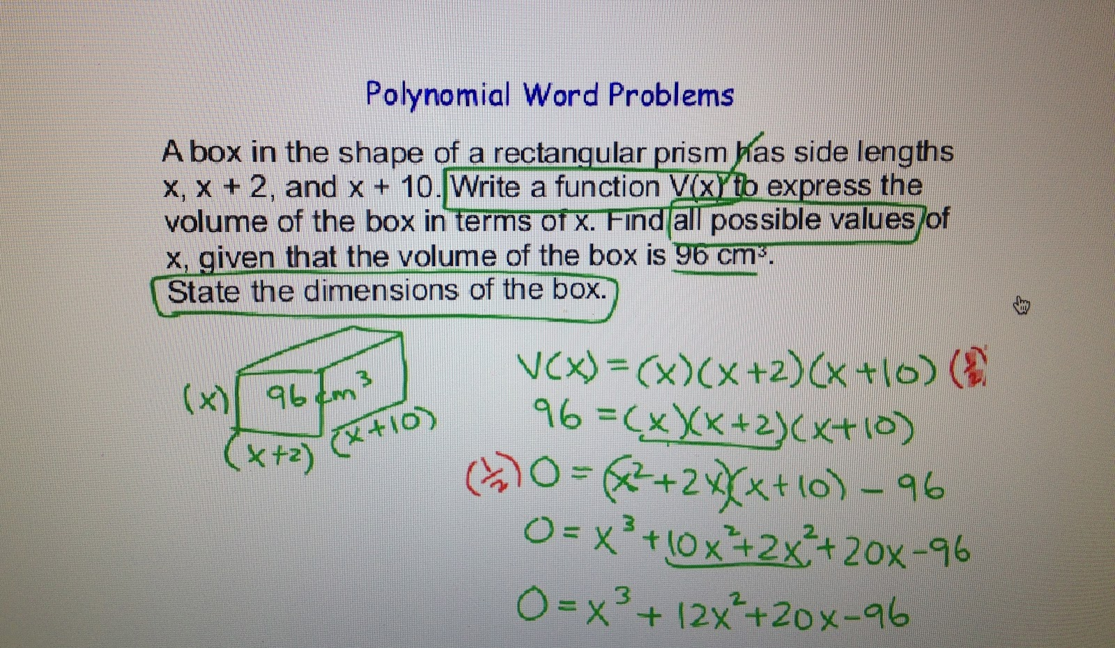 Factoring Polynomials Word Problems Worksheet Worksheets for all ...