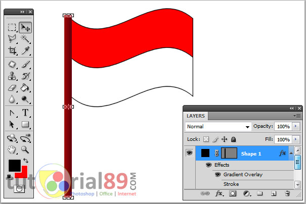 Cara membuat bendera merah putih dengan photoshop