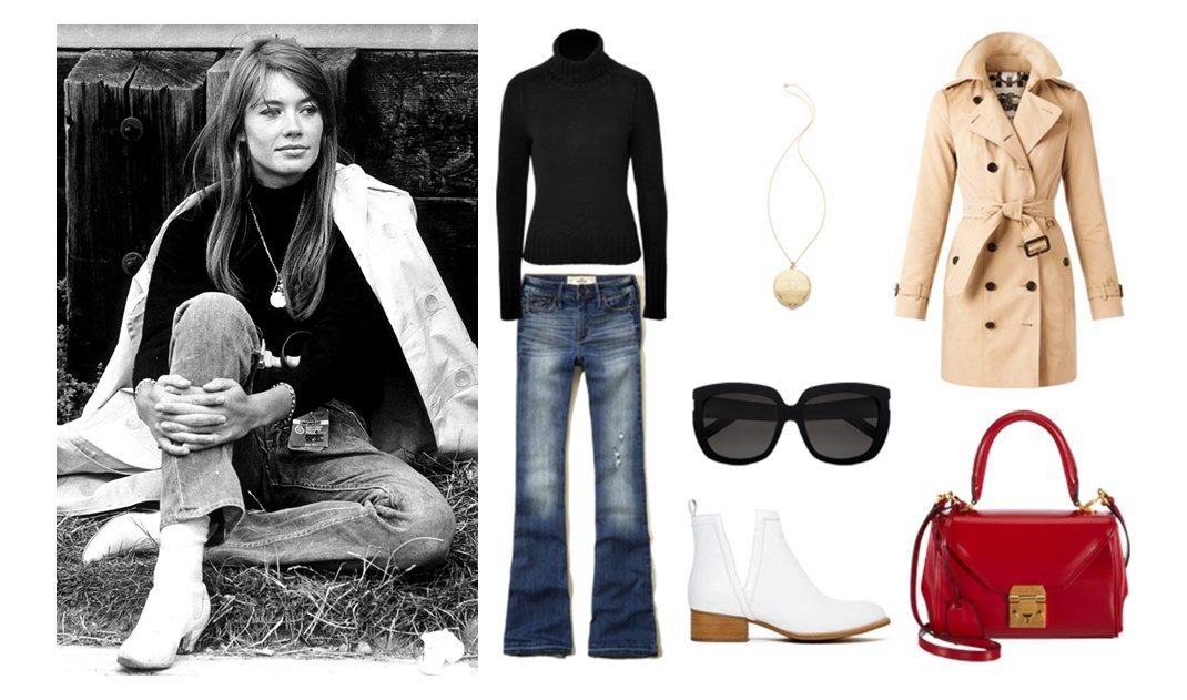 Style Hero Françoise Hardy Fashion Trench Coat Jeans