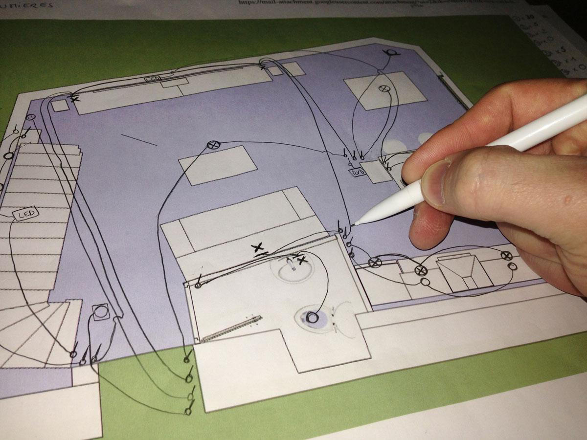 schma de linstallation lectrique au niveau clairage - Renovation Installation Electrique Maison