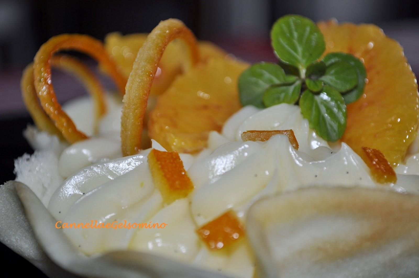 cestini con crema alla vaniglia del madagascar al profumo d'arancia
