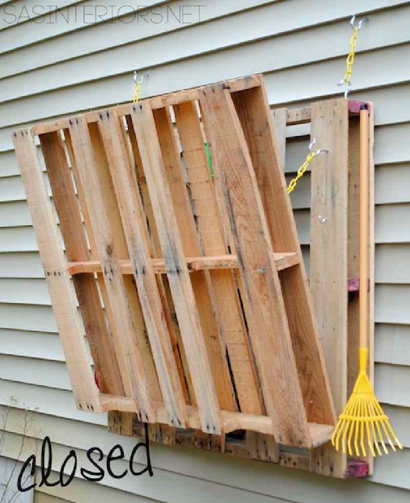 Como hacer una mesa plegable para el for Como hacer una valla con palets
