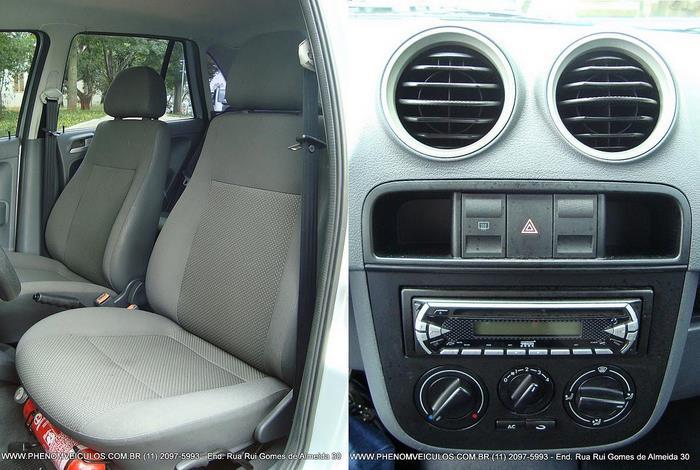 VW Gol Trend 1.0 Flex 2008 4 Portas completo - interior - bancos