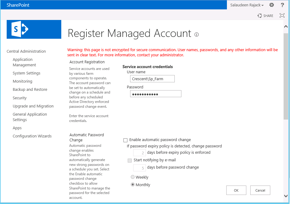 create managed account sharepoint 2013 powershell