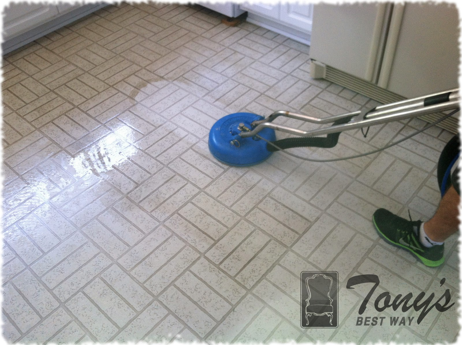 Our Great Hard Floor Cleaning Equipment Cleans Up As It Works; No Spray!