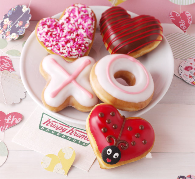 krispy kremes 2015 valentines day donuts include new luv bug donuts