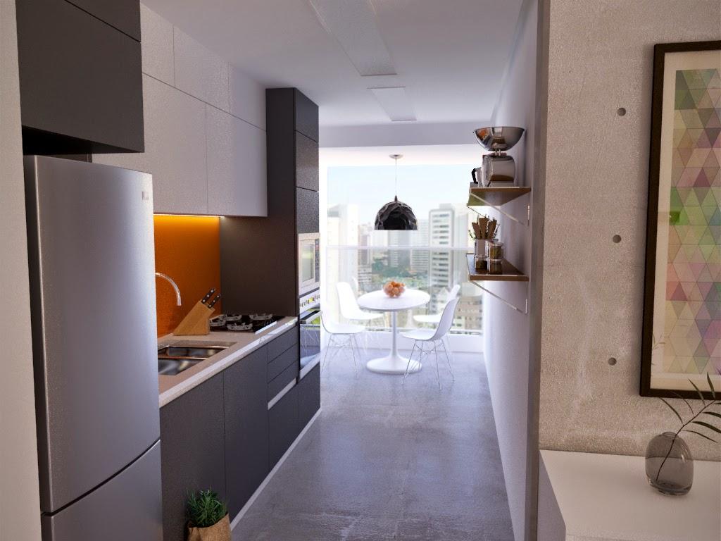 cozinha foi projetada com base no contexto geral do apartamento que  #66493B 1024 768