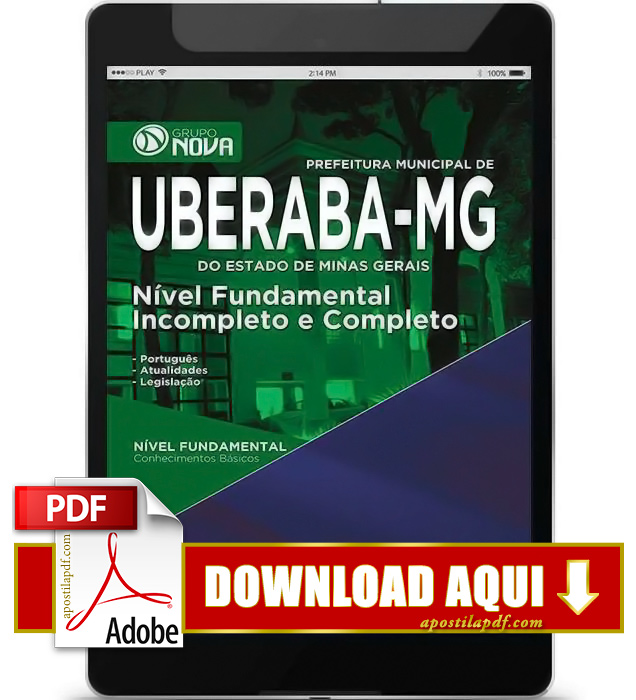 Apostila Uberaba MG 2015 PDF Download Nível Fundamental, Completo e Incompleto